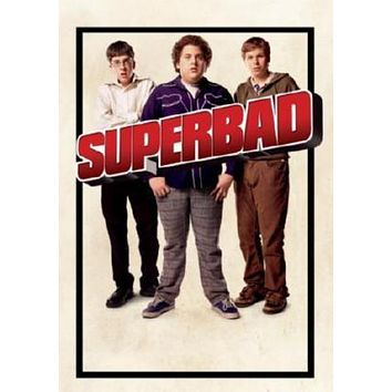 Superbad Movie poster Metal Sign Wall Art 8in x 12in