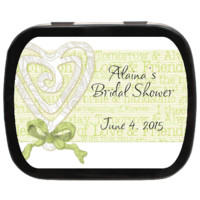 Bridal Shower Favors, Bridal Heart Personalized Bridal Shower Mint Tins, Candy Favors, Party Favors