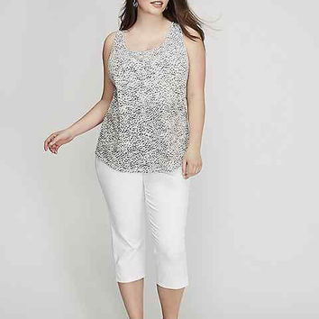 17845 Lane Bryant White Denim 5 Pocket Capri NWT Size 28