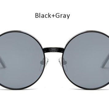 Vintage  Men Women Gothic Steampunk Round Sunglasses