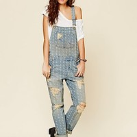 Free People Womens Stephens Relaxed Overall - Denim