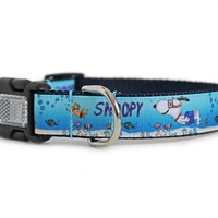 Scuba Snoopy Dog Collar