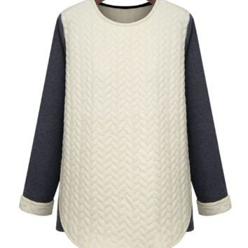 'Jacquinot' Neoprene Soft Sweatshirt Color Block Raglan Sweater
