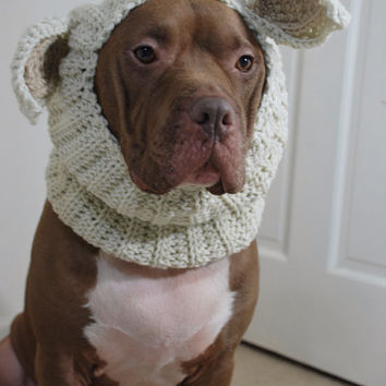 Dog Snood Lamb Crochet Large