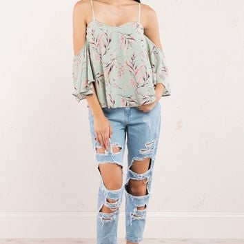 Distressed Medium Wash Boyfriend Jeans
