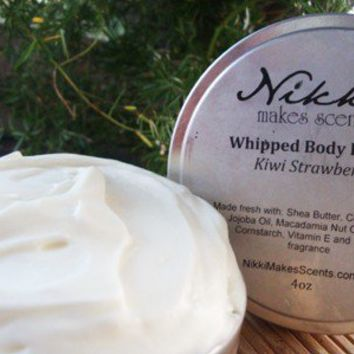 Natural Whipped Body Butter 4oz Unscented by nikkicandles on Etsy