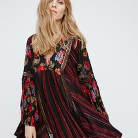 Free People Lovestoned Buttondown Printed Tunic