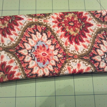 SALE Retro Checkbook Cover for Women, Checkbook Holder, Checkbook Wallet