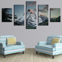 5 Panel The Winding Path Modern Home Wall Decor Canvas Picture Art Print WALL Painting Set of 5 Each Canvas Arts Unframe