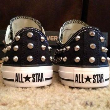 DCCK1IN studded converse shoes fully studded by donishdesigns on etsy