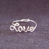 Sterling Silver Wire Love Ring SPECIAL Discount by WireNameMike