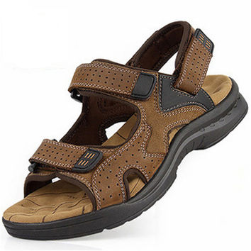 Men's Sandals Genuine Leather Cowhide