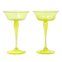 Set of 13 Yellow Venetian Champagnes