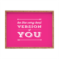 Allyson Johnson Be the best you Rectangular Tray