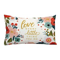 """Love Every"" Lumbar Pillow by Stratton Home Decor"