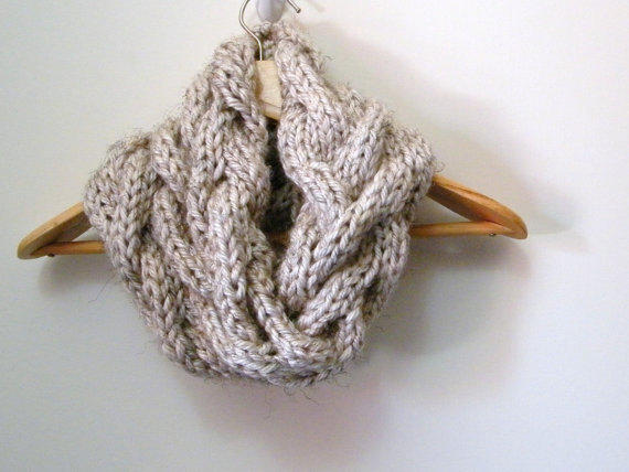 KNITTING PATTERN Cable Cowl Infinity from LewisKnits on Etsy