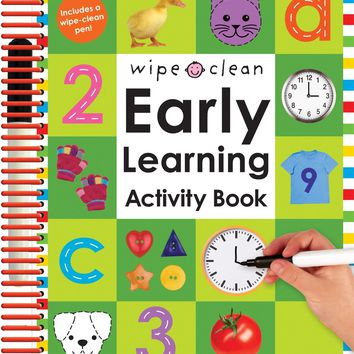 Wipe Clean Early Learning Coloring and Activity Book