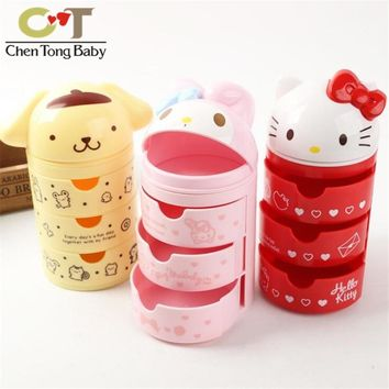 43% Melody Hello Kitty Pudding Dog Plastic ornaments decorative children toys Drawer type storage box WJ01