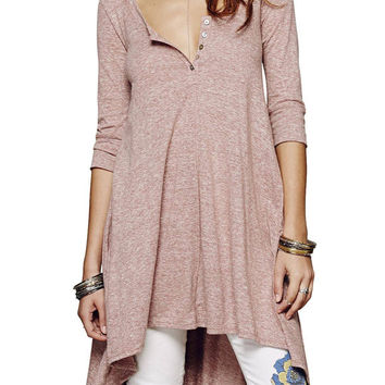 Pink Half Sleeve Dress