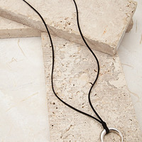 Longline Crescent Pendant Necklace