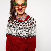 ASOS Rudolf Christmas Novelty Glasses