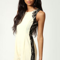 Livvy Lace Side Trim Illusion Style Playsuit