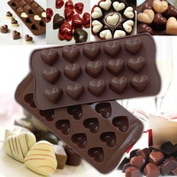 15 Holes Love Shape Chocolate Mold Jelly Cookie Cake Pudding Popsicle Mould Cake DIY Decoration Cooking Tools Baking Accessories