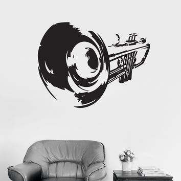 Vinyl Decal Trumpet Musical Instrument Music Art Decor Wall Stickers Unique Gift (ig2956)