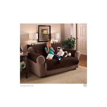Innovative Textile Solutions Microfiber Furniture Protectors, Loveseat, Chocola