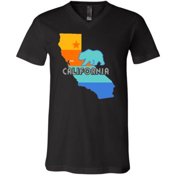 California Bear State Stripes Asst Colors V-Neck