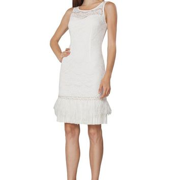 JS Collections - Lace Embellished Scoop Neck Dress 864903
