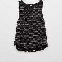 Aerie Bobble Trim Tank, Bold Black