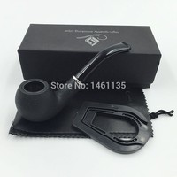 Noble black frosted style wooden weed pipe smoking pipe tobacco pipe for gift Boxed Free Shipping