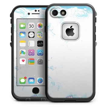 Marbleized Blue Border v2 - iPhone 7 LifeProof Fre Case Skin Kit
