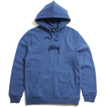 Stock Applique Hoody Cool Blue