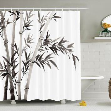 Bamboo Theme Shower Curtain