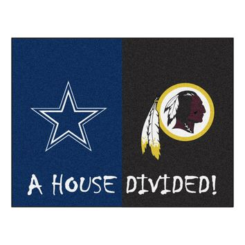 Dallas Cowboys/Washington Redskins NFL House Divided Rugs 33.75x42.5