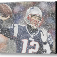 New England Patriots Tom Brady Quotes Mosaic INCREDIBLE