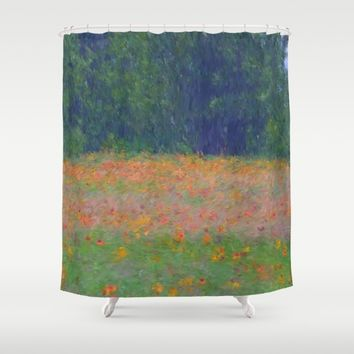 Colorful Floral Carpet Shower Curtain by Lena Photo Art