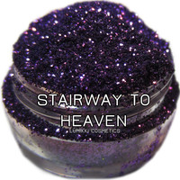 Stairway to Heaven GLITTER 5 Gram Full Size Jar Royal Deep Purple Glitter Midnight Halloween Magic Glitter Collection Lumikki Cosmetics