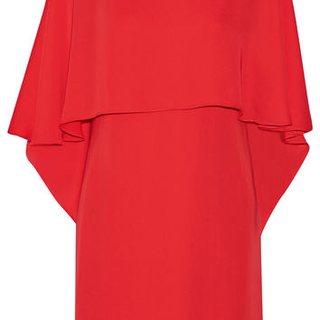 Halston Heritage - Cape-back georgette mini dress