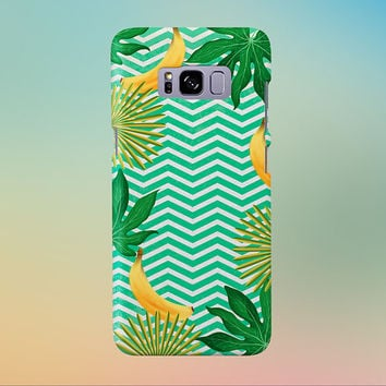 Go Bananas x Tropical Chevron Phone Case, iPhone 7, iPhone 7 Plus, Rubber iPhone Case, Galaxy s8, Samsung Galaxy s8 Plus, Google Pixel
