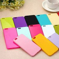 Fashion Candy Color Phone Cases for Iphone 6 6s Plus 5s 5 SE 5c Solid Color Soft TPU Phone Covers for Iphone 6 Case Coque Capa