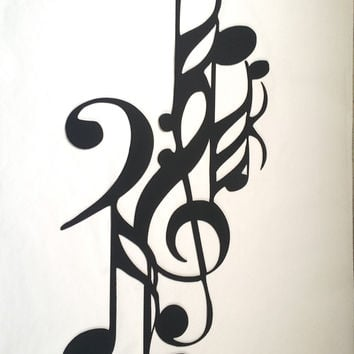 Music and Notes Art Deco Metal Wall Art Home Decor