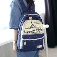 College Back To School On Sale Comfort Hot Deal Stylish Casual Korean Canvas Backpack [8384603207]