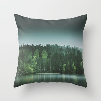 Echoes III Throw Pillow by HappyMelvin