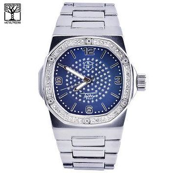 Jewelry Kay style Men's Luxury Iced Out CZ Fashion Stainless Steel Heavy Metal Band Watch 7966 SBL