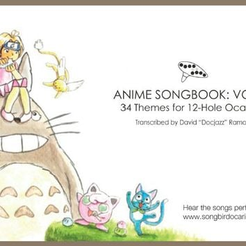 Anime Songbook: Vol. 1 for 12 Hole Ocarina