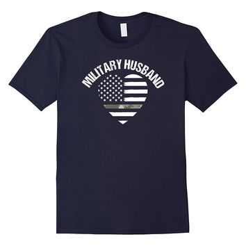 Military Camo Heart Shirt Proud Soldier Husband