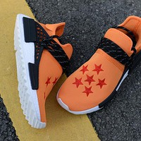 "Adidas x Human Race NMD ""Dragonball Evolution"" White&Black&Orange Men Women Sneaker"